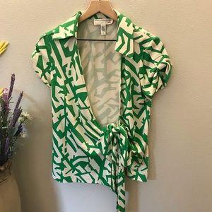 Diane Von Furstenburg Vintage wrap blouse